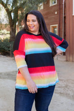 Load image into Gallery viewer, Rainbow In the Night Short Sleeve Top