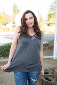 Effortlessly Gorgeous Sleeveless Top in Charcoal