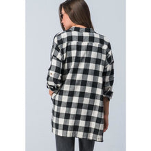 Load image into Gallery viewer, Oversized, Black & White Plaid Flannel