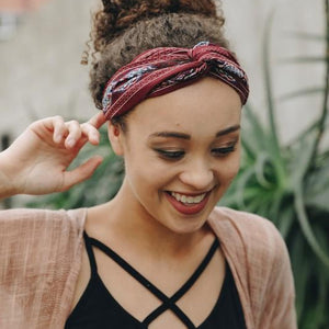 Twisted Knot Elastic Headbands