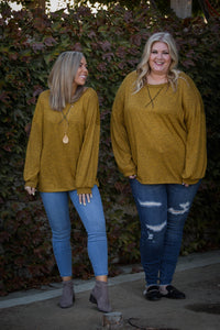 Hacci Jewel Pullover in Butterscotch