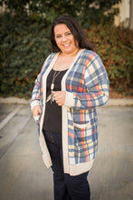 Load image into Gallery viewer, Winter Plaid Sweater Cardigan