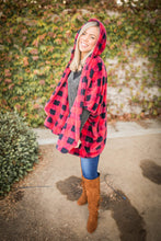 Load image into Gallery viewer, It's All About That Plaid Sherpa Poncho