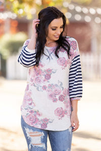 Striking 3/4 Sleeve Top