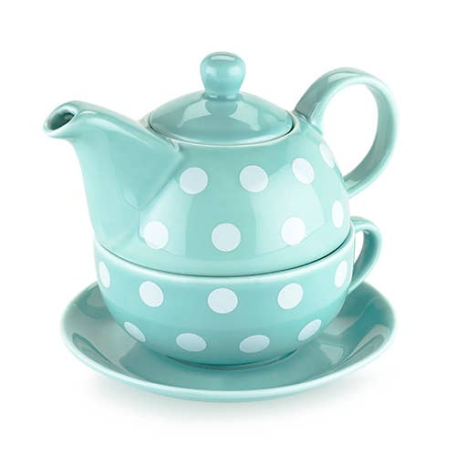 Pinky Up - Addison Polka Dot Tea for One Set by Pinky Up