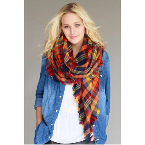 Blanket Scarf, Multicolored