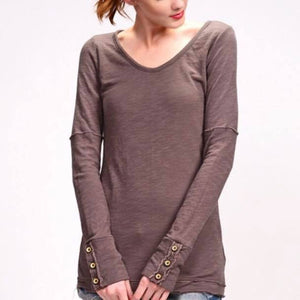 Meet me at the Lodge, Pointelle Long Sleeved Top