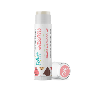 Eclair Lips - Chocolate Strawberry Lip Balm - Chocoholic Chocolate Lover