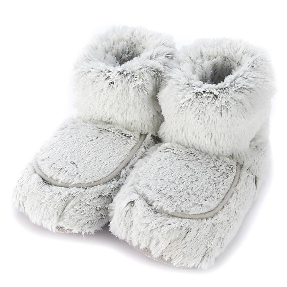 Warmies - Marshmallow Gray Boots Warmies