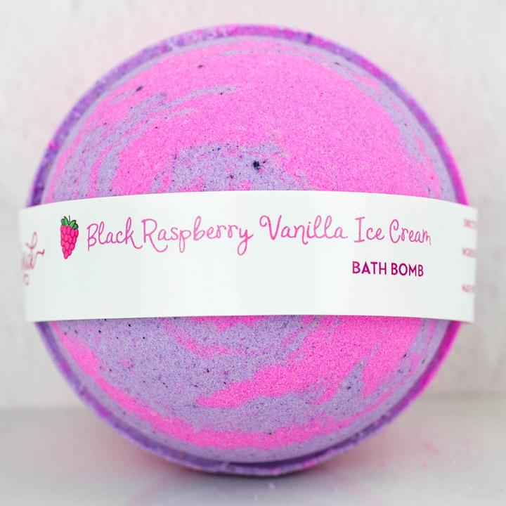 Black Raspberry Vanilla Ice Cream Bath Bomb
