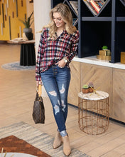 Load image into Gallery viewer, Grace & Lace Knit Plaid Henley