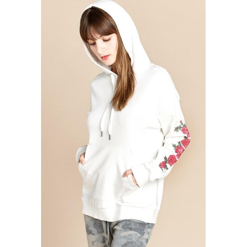 Secret Garden, Embroidered Hooded Pullover