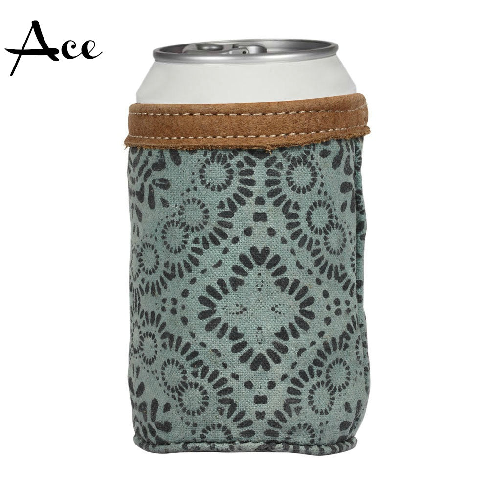 Myra Leather & Canvas Drink Coozies