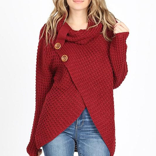 Bailey Button Waffle Knit Sweater