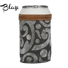 Load image into Gallery viewer, Myra Leather & Canvas Drink Coozies