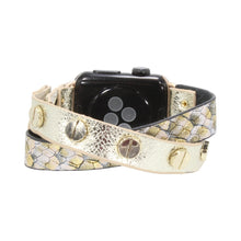 Load image into Gallery viewer, Erimish Apple Watch Band in Criss Cross Leather Straps
