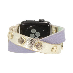 Erimish Apple Watch Band in Criss Cross Leather Straps