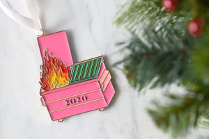 Commemorative 2020 Dumpster Fire Ornament or Keychain PRESALE