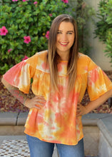 Load image into Gallery viewer, Ray of Sunshine Ruffle Short Sleeve Top