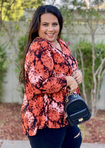 Sedona Sunset Long Sleeve Swing Tunic