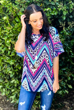 Load image into Gallery viewer, Mad About Chevron Ruffle Sleeve Top