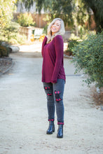 Load image into Gallery viewer, Everyday Long Sleeve Tee in Burgundy