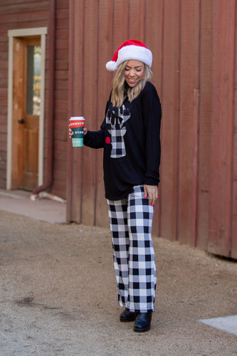 Checkered Plaid Pajama Bottoms