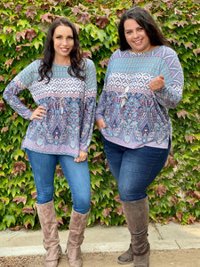 Paisley Palace Long Sleeve Top