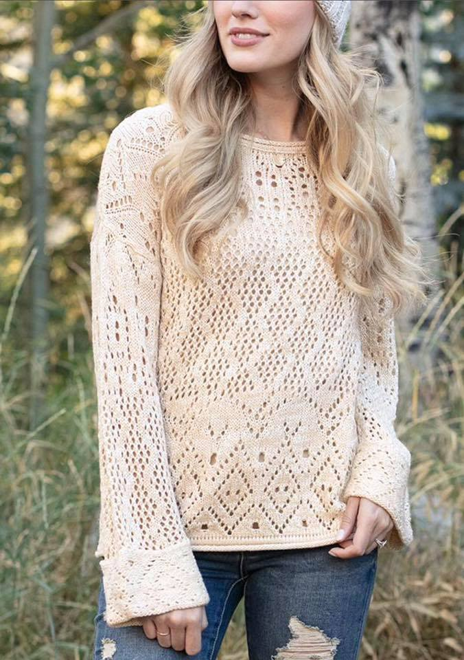 Frost Creek Pointelle Sweater