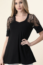 Load image into Gallery viewer, Elegance and Lace Short Sleeve Top