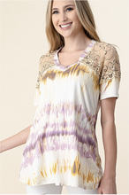 Load image into Gallery viewer, Summer Stunner Lace Short Sleeve Top
