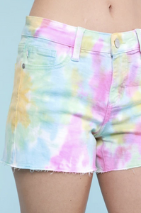 Rainbow Sherbert Judy Blue Shorts