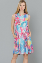 Load image into Gallery viewer, Circular Vibrations Sleeveless Swing Dress