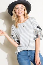Load image into Gallery viewer, Oh So Chic Ruffle Sleeve Top