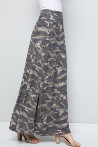 Camo Love Side Slit Maxi