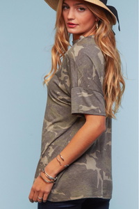 Bound with Love Camo Top