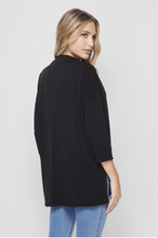 Load image into Gallery viewer, Quaint and Comfy 3/4 Sleeve Top in Black