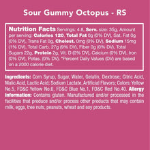 Load image into Gallery viewer, Candy Club - Sour Gummy Octopus