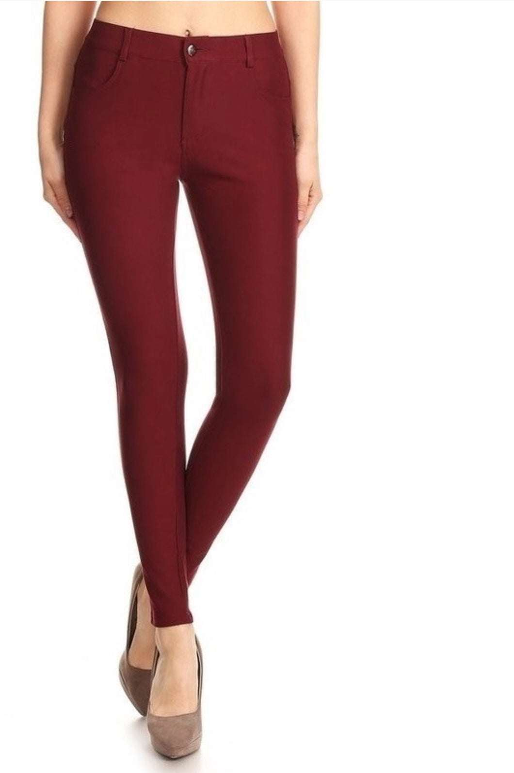 The Best Ponte Pants Ever in Wine