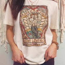 Load image into Gallery viewer, The Lovers Vintage Tarot Tee PRESALE