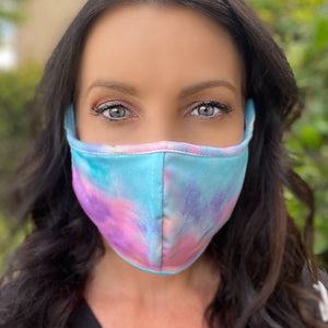 Vibrant Tie Dye Face Covering