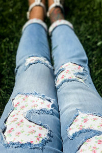 Flower Patch Judy Blue Skinnies