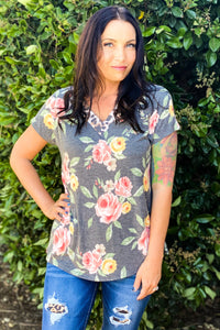 Rose of the Amazon Short Sleeve Top
