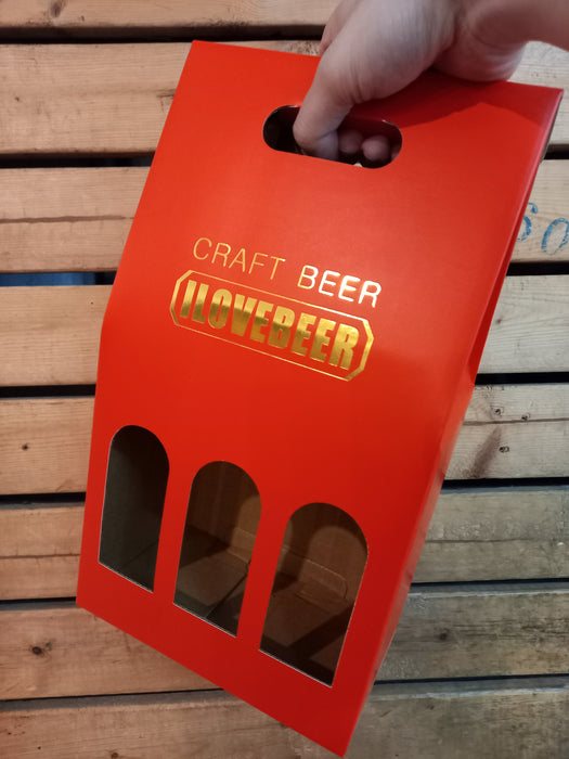 Premium Red Craft Beer Box (BoxOnly)