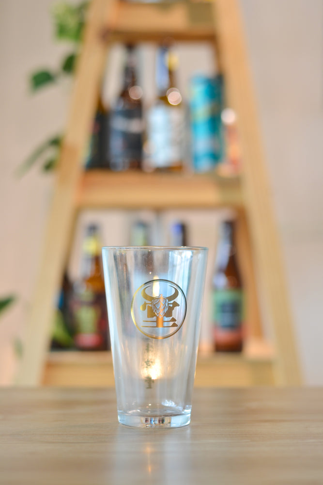 NBeer Gold Logo Glass