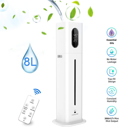 2.1Gal. Humidifier Large Capacity Cool Mist Top Fill Vaporizer for baby room Yoga