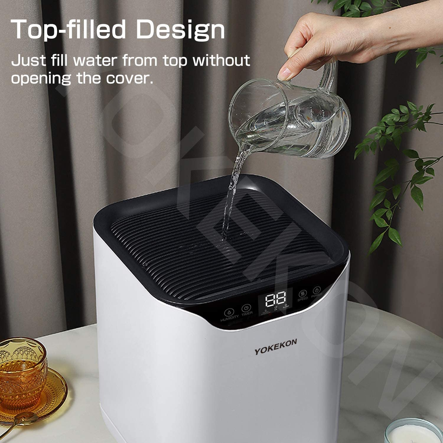 Evaporative Humidifiers  1.05Gal  Filtered Cool Moisture Humidifier
