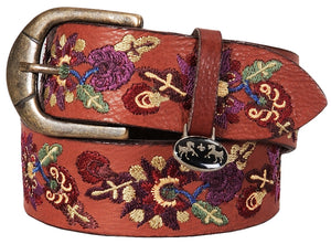 Equine Couture Veronica Leather Belt - Oakbark