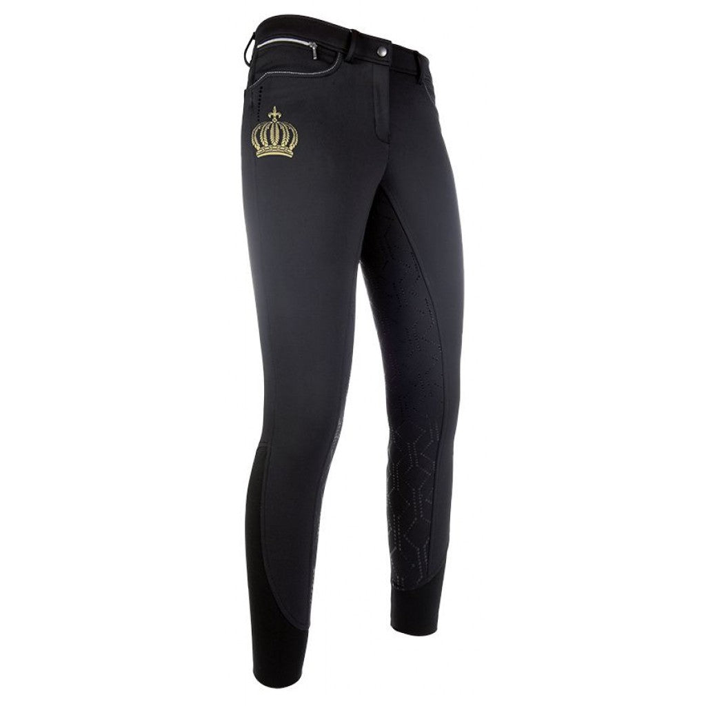 HKM Softshell riding breeches -Pompöös-sil. full seat