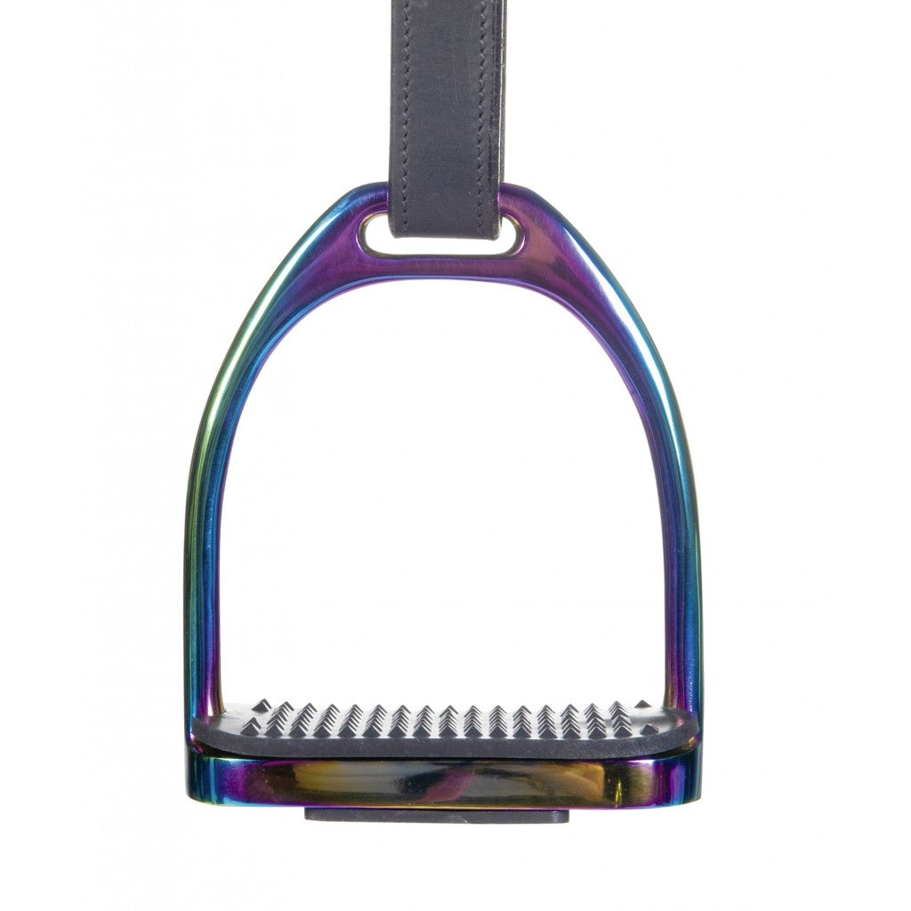 HKM Stainless steel stirrup -Rainbow